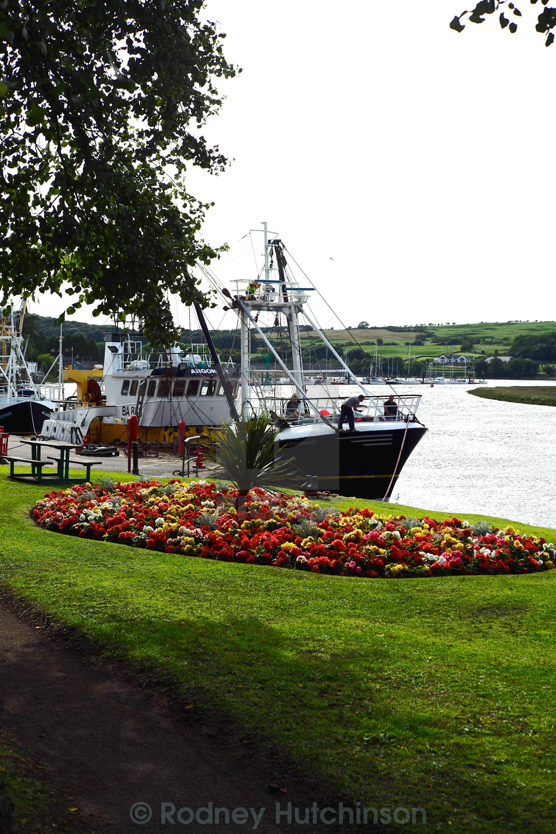 """Kirkcudbright Harbour, Dumfries and Galloway."" stock image"