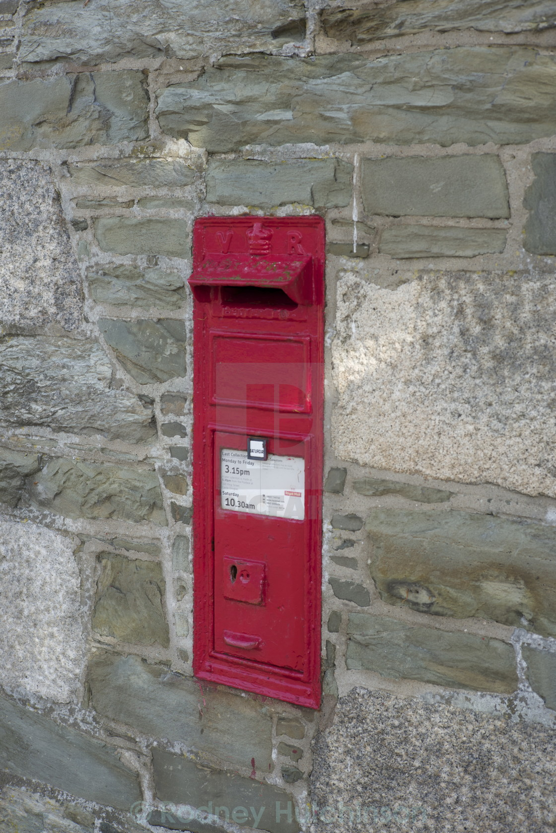 """Victorian Post Box"" stock image"