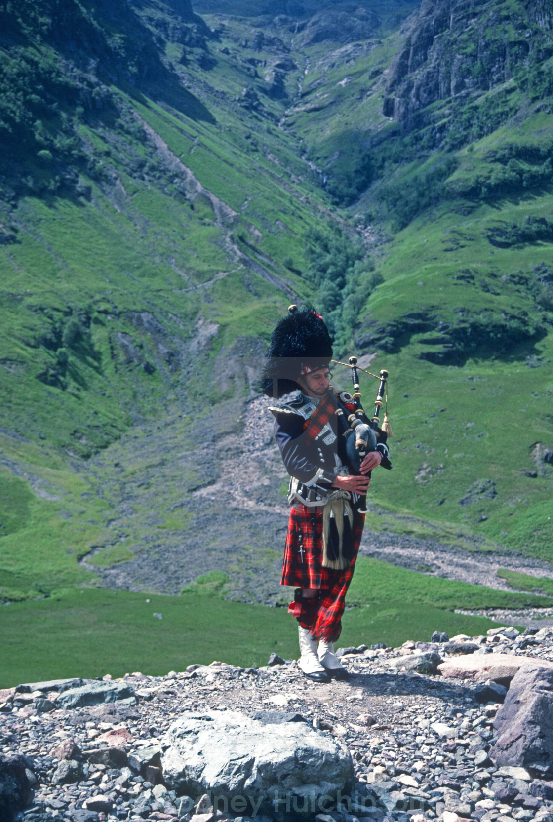 """Piper in Glencoe"" stock image"