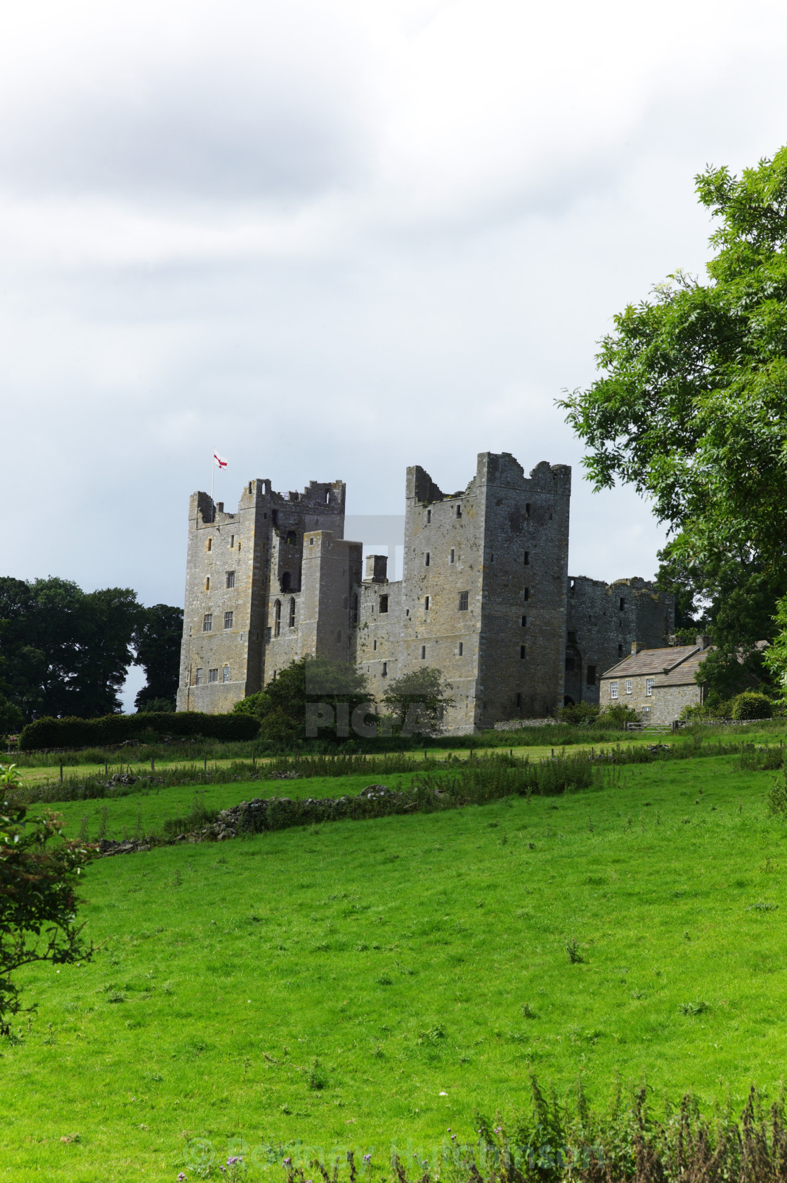 """Bolton Castle"" stock image"
