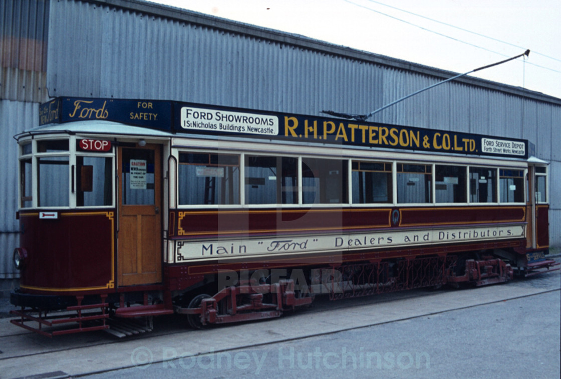 """Old Newcastle Tram"" stock image"