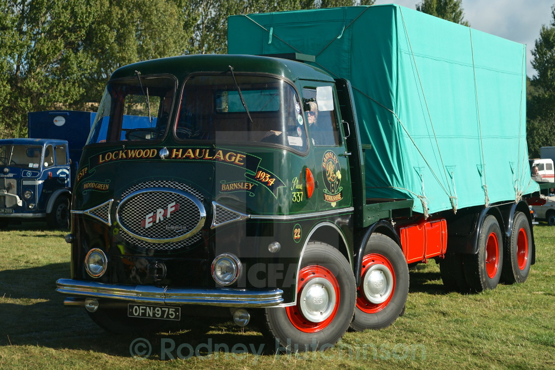 """1960's ERF 8 Wheeler Lorry"" stock image"