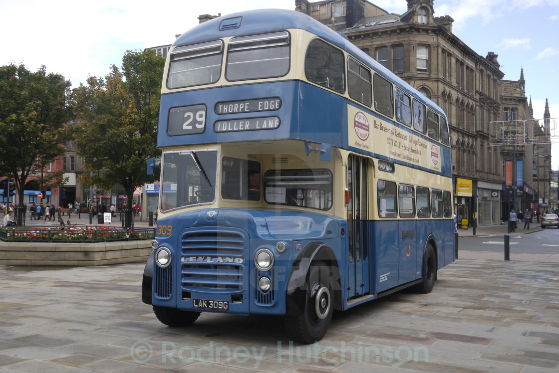 """1969 Leyland Titan PD3 No309"" stock image"
