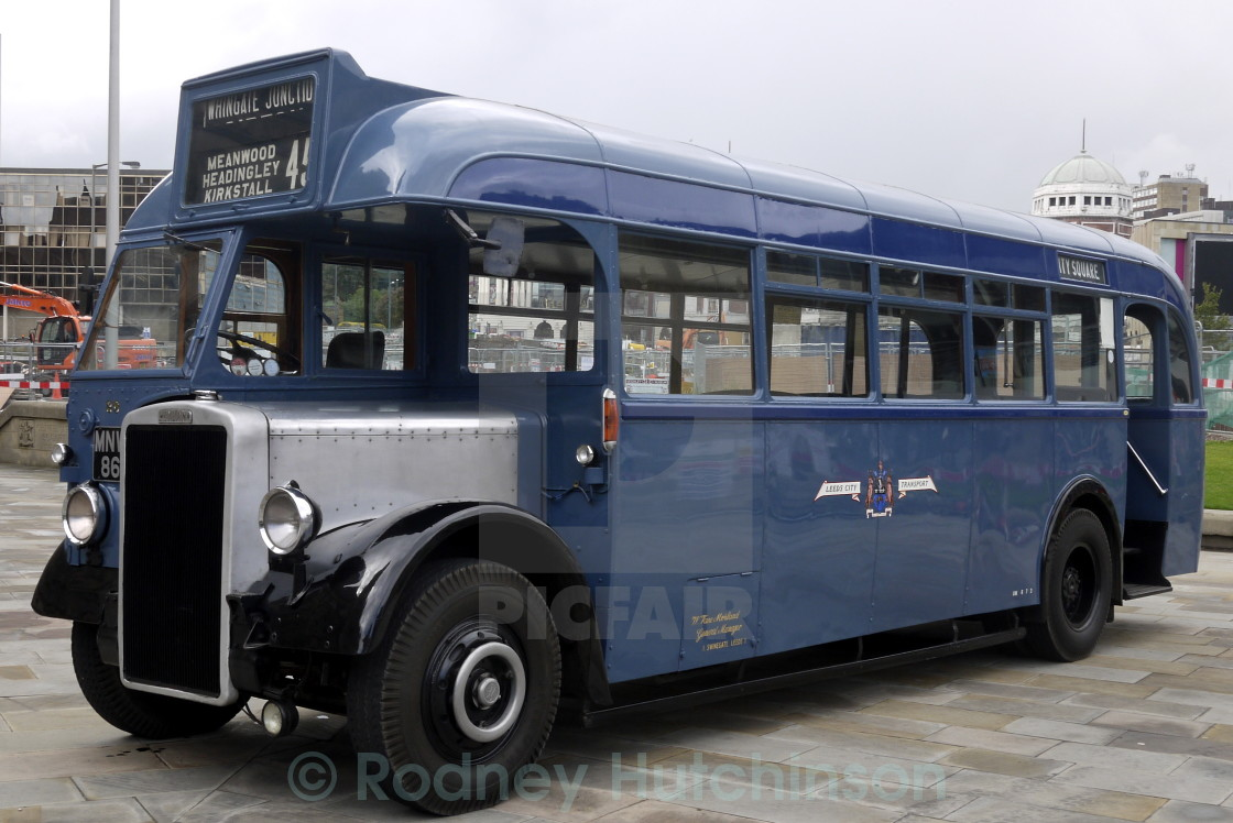 """1948 Leyland Tiger Bus"" stock image"