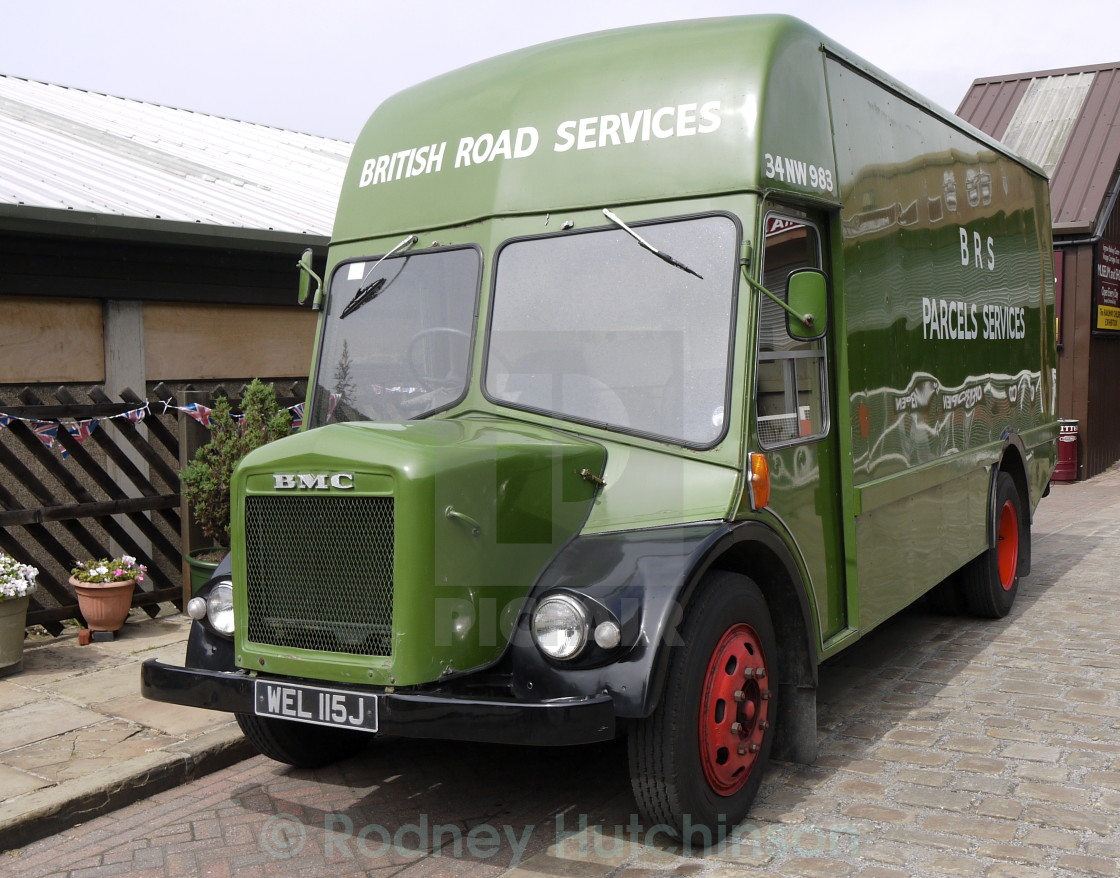 """1958 British Road Services BMC Parcel Van"" stock image"