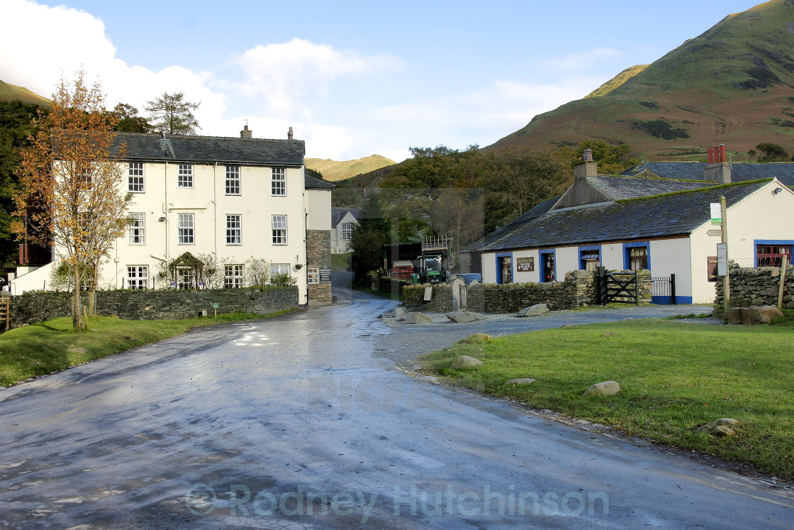 """Buttermere Village,"" stock image"