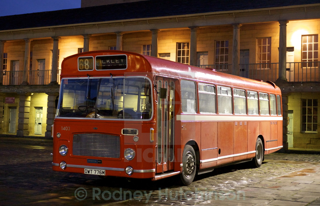 """1970's Bristol bus RELL6L single deck bus"" stock image"
