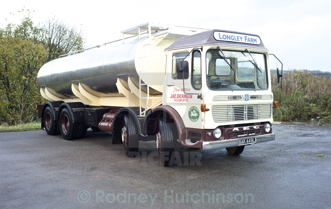 """1973 AEC Mammoth Major Tanker"" stock image"
