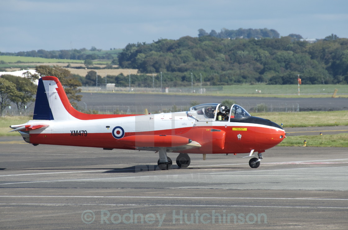 """Hunting (BAC) Jet Provost aircraft"" stock image"