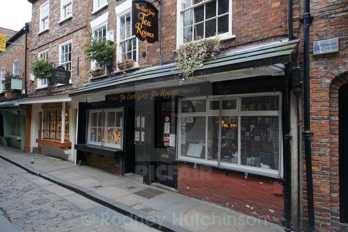 """Earl Gray tea rooms in York"" stock image"