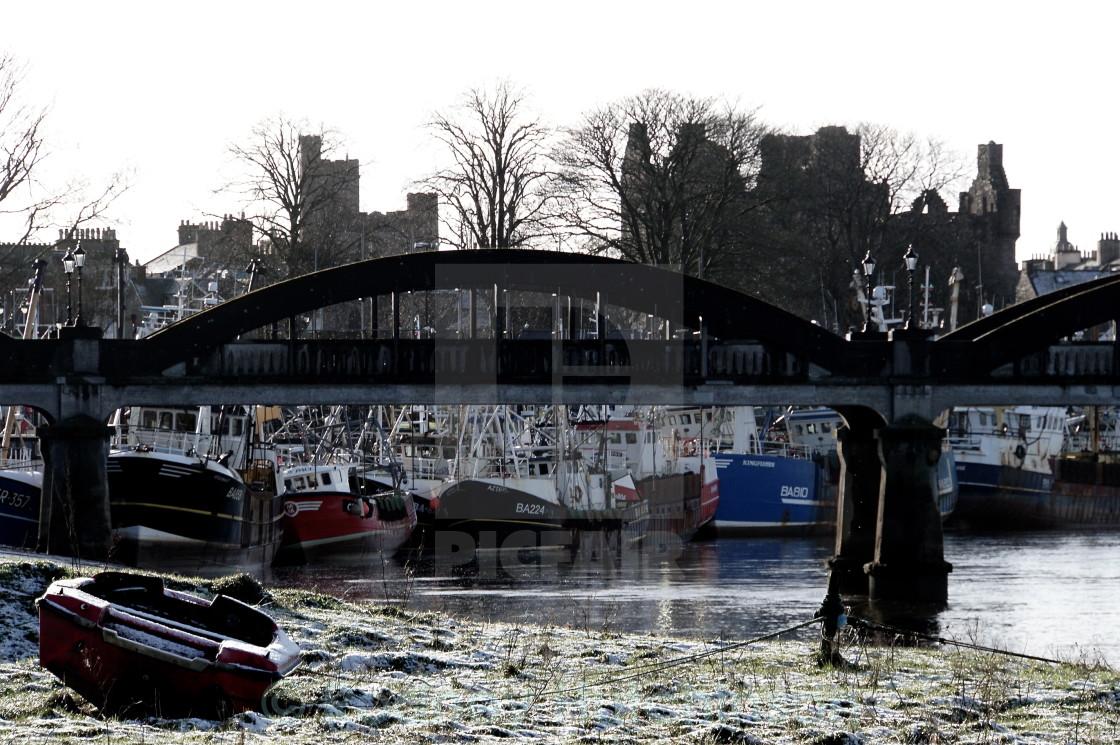 """""""Kirkcudbright in winter"""" stock image"""