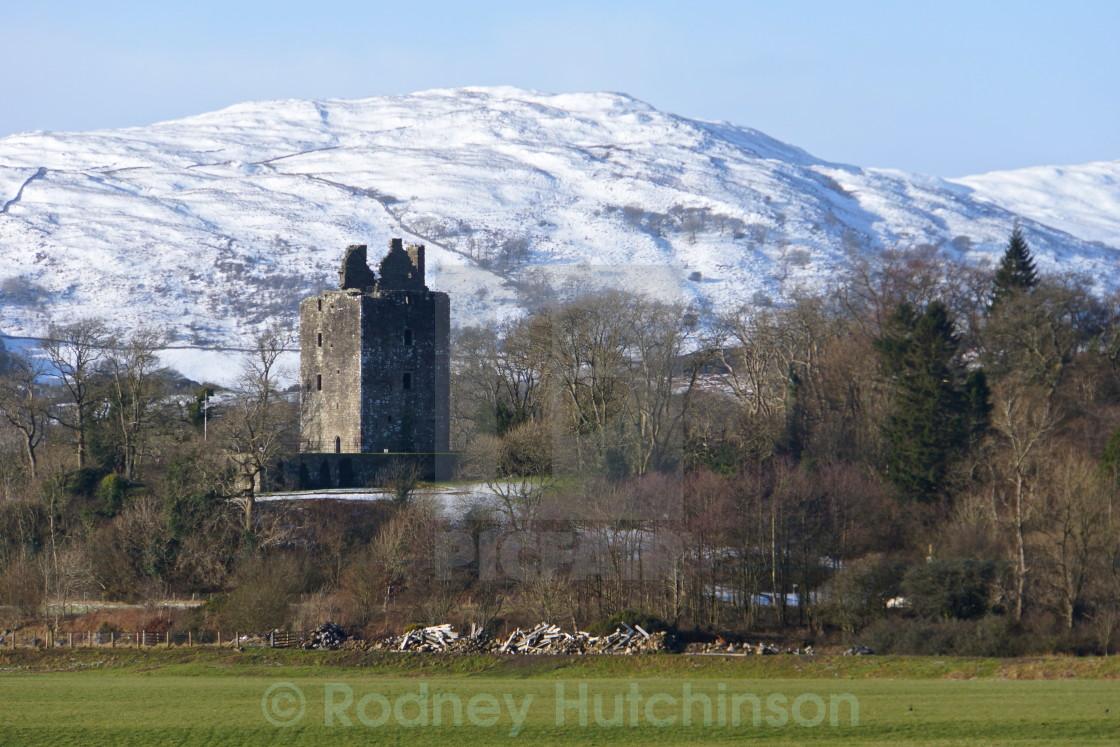 """Cairnharrow & Cardoness castle"" stock image"