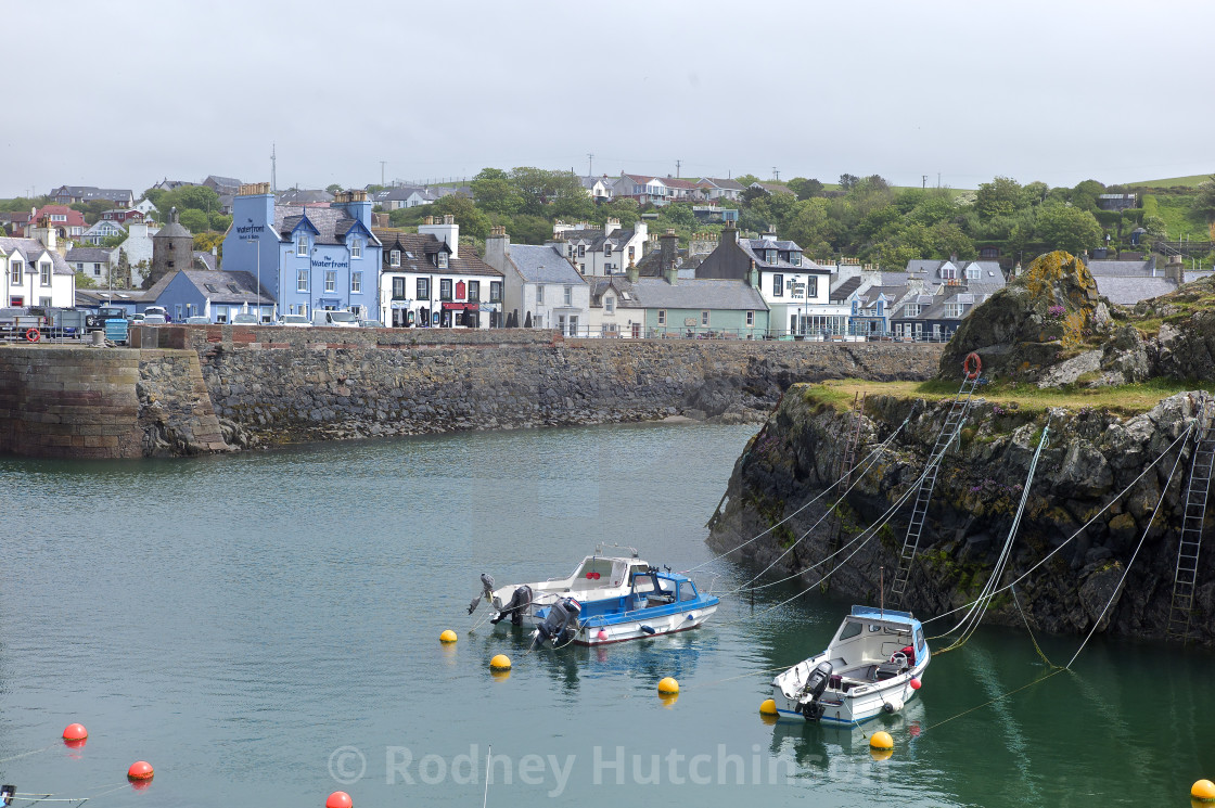 """""""PortPatrick Harbour, Dumfries and Galloway"""" stock image"""