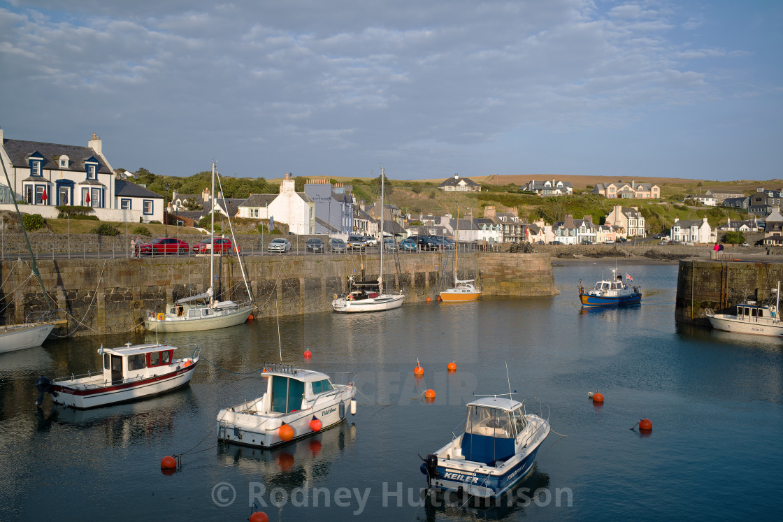 """Coming in PortPatrick Harbour"" stock image"
