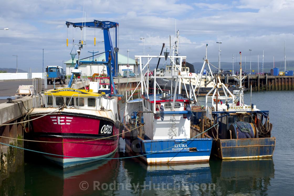 """Fishing Boats Stranraer Harbor"" stock image"