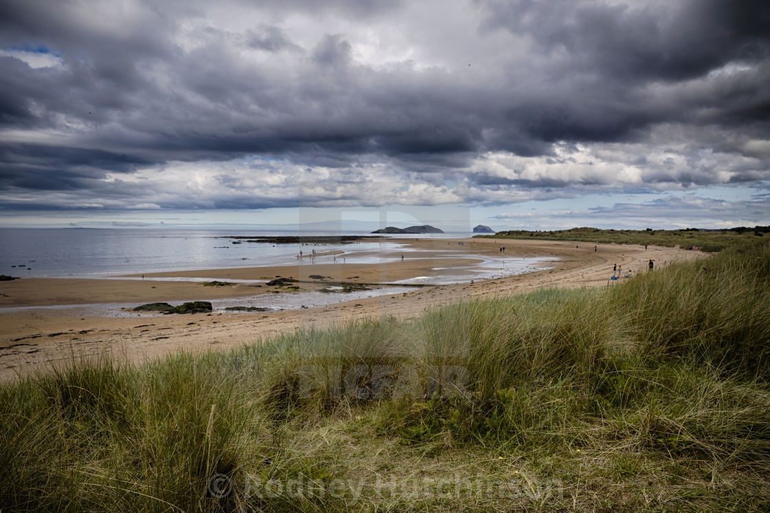 """Yellowcraig beach"" stock image"