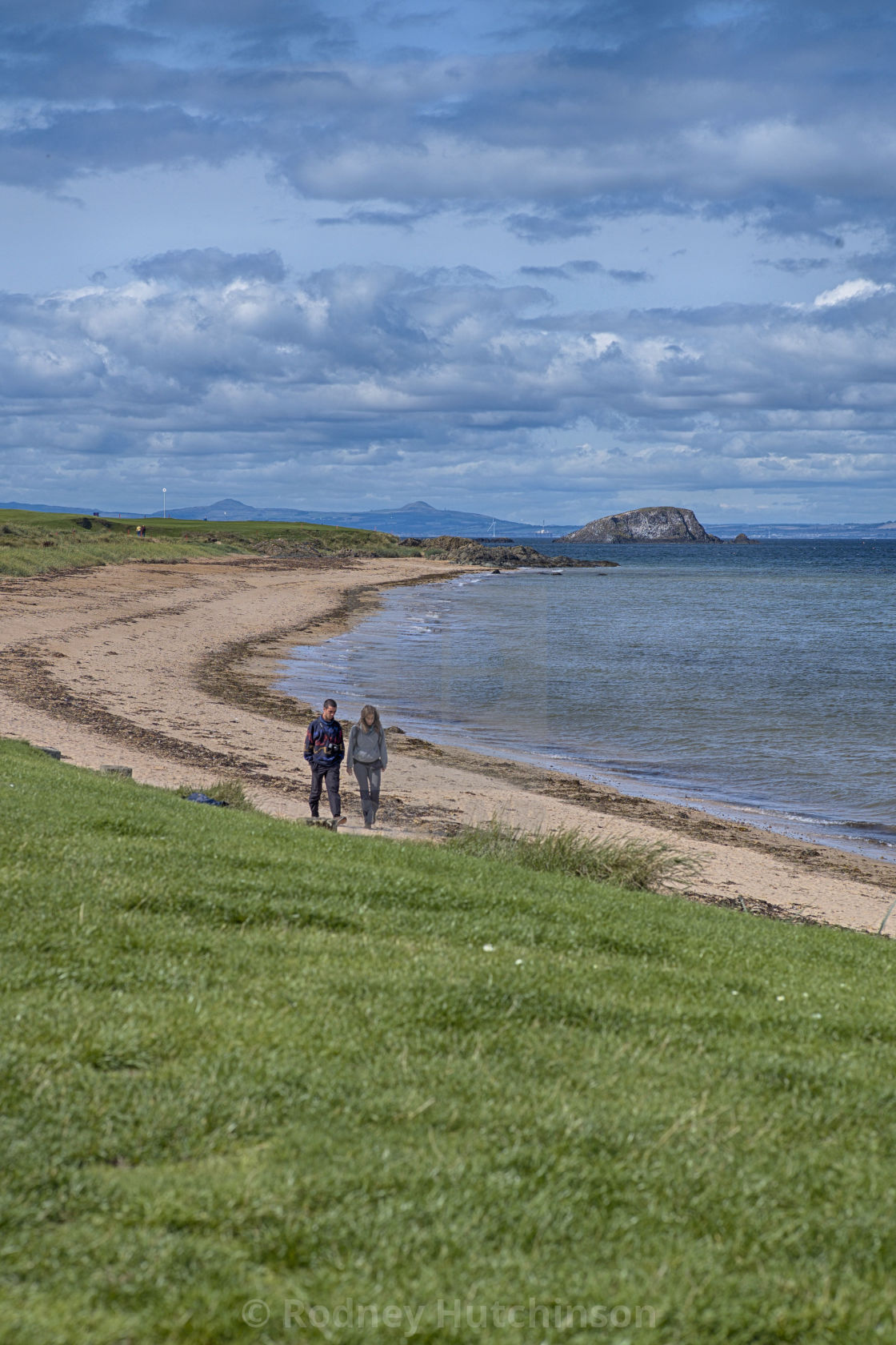 """Coastline at North Berwick, East Lothian."" stock image"