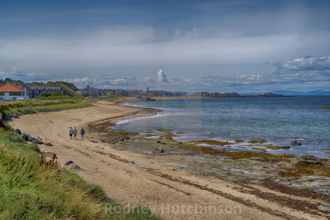 """East Bay North Berwick, Scotland"" stock image"