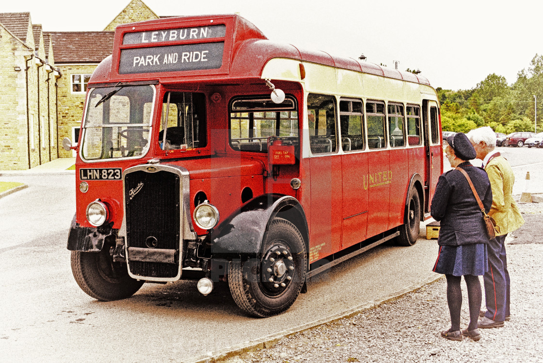 """Bristol 1940's bus"" stock image"