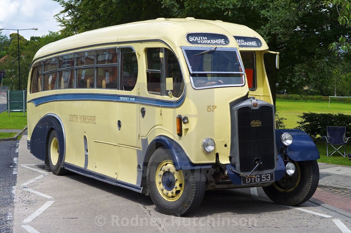 """South Yorkshire 1947 Albion Valkyrie bus"" stock image"