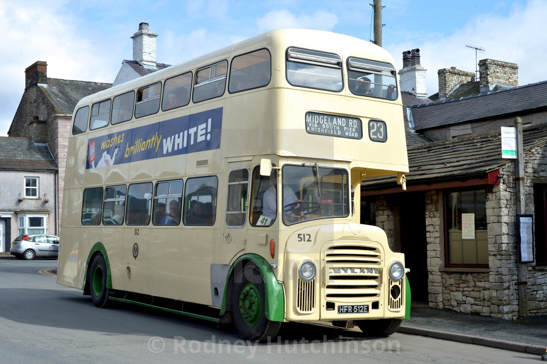 """Blackpool Livery Leyland PD3 bus"" stock image"