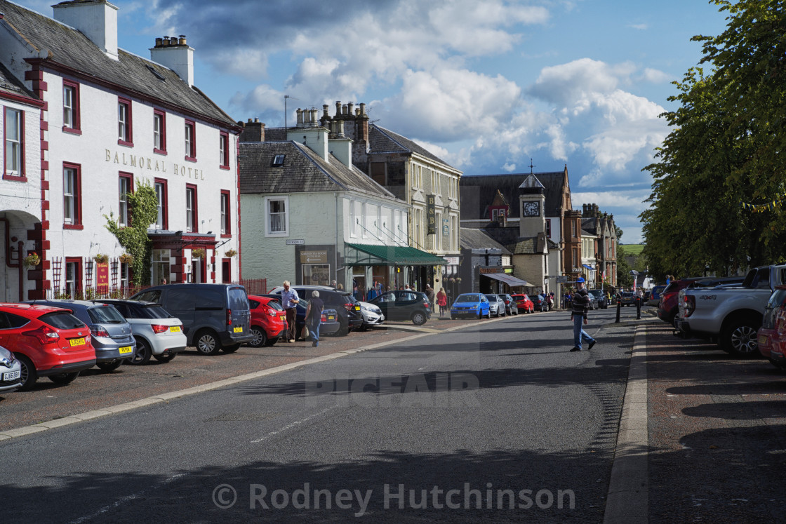 """Moffat, Dumfries and Galloway"" stock image"