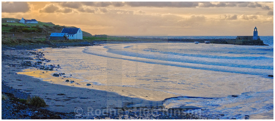 """Port Logan in winter"" stock image"