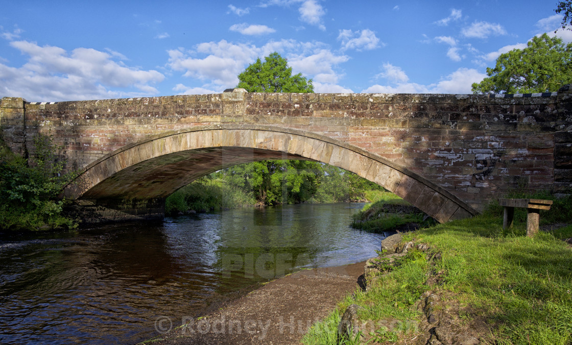 """Bridge over the River Doon"" stock image"
