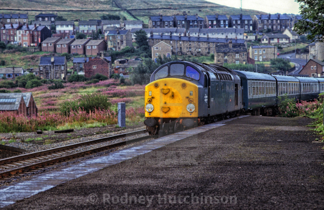"""1980's British Rail train at Batley"" stock image"