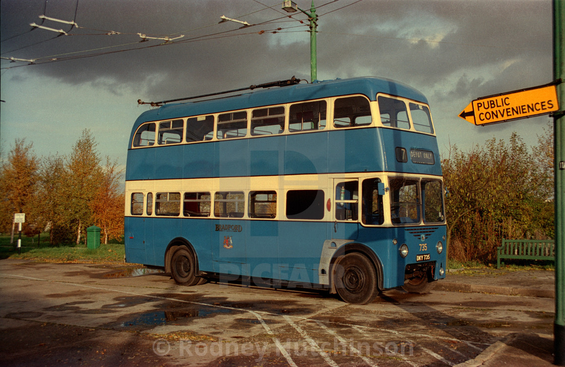 """Former Bradford Trolley bus"" stock image"