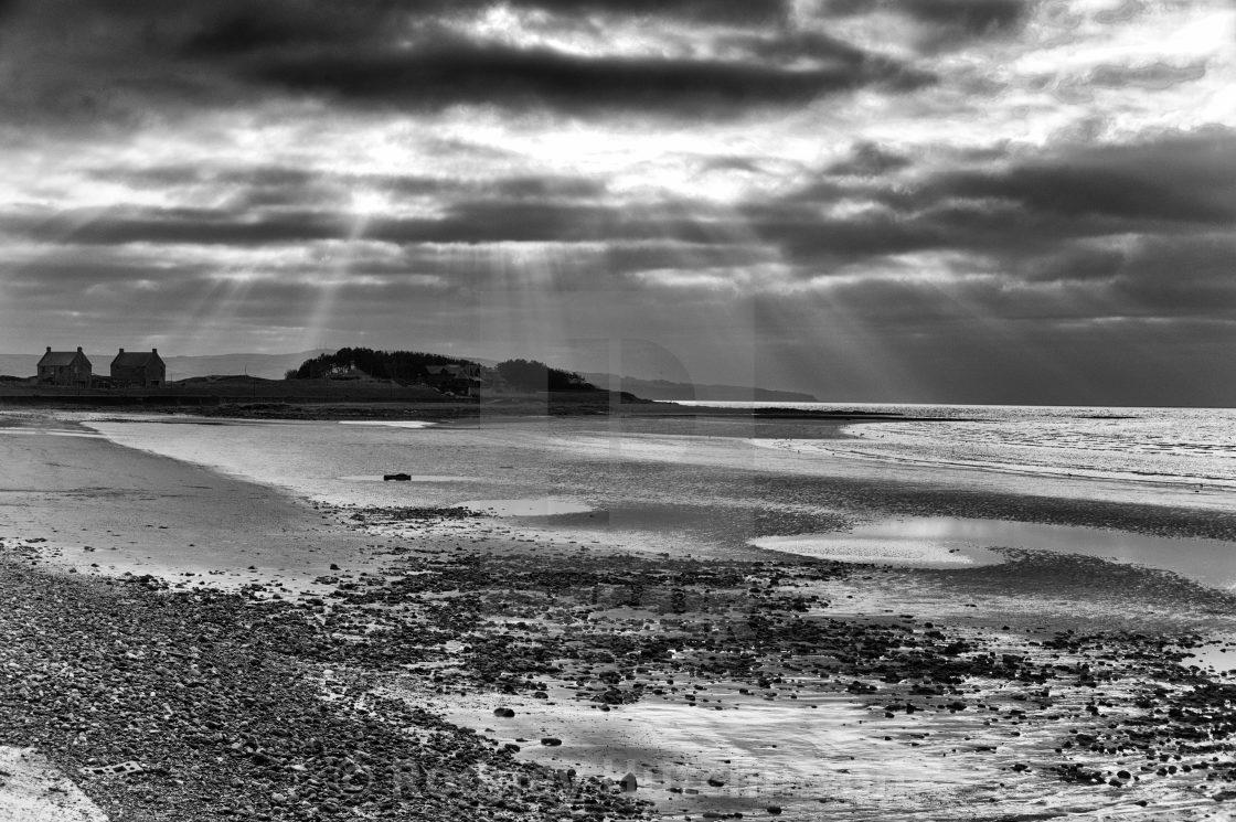 """""""Prestwick Beach"""" stock image"""