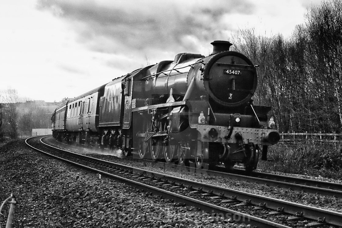 """""""Steam at Low Moor"""" stock image"""