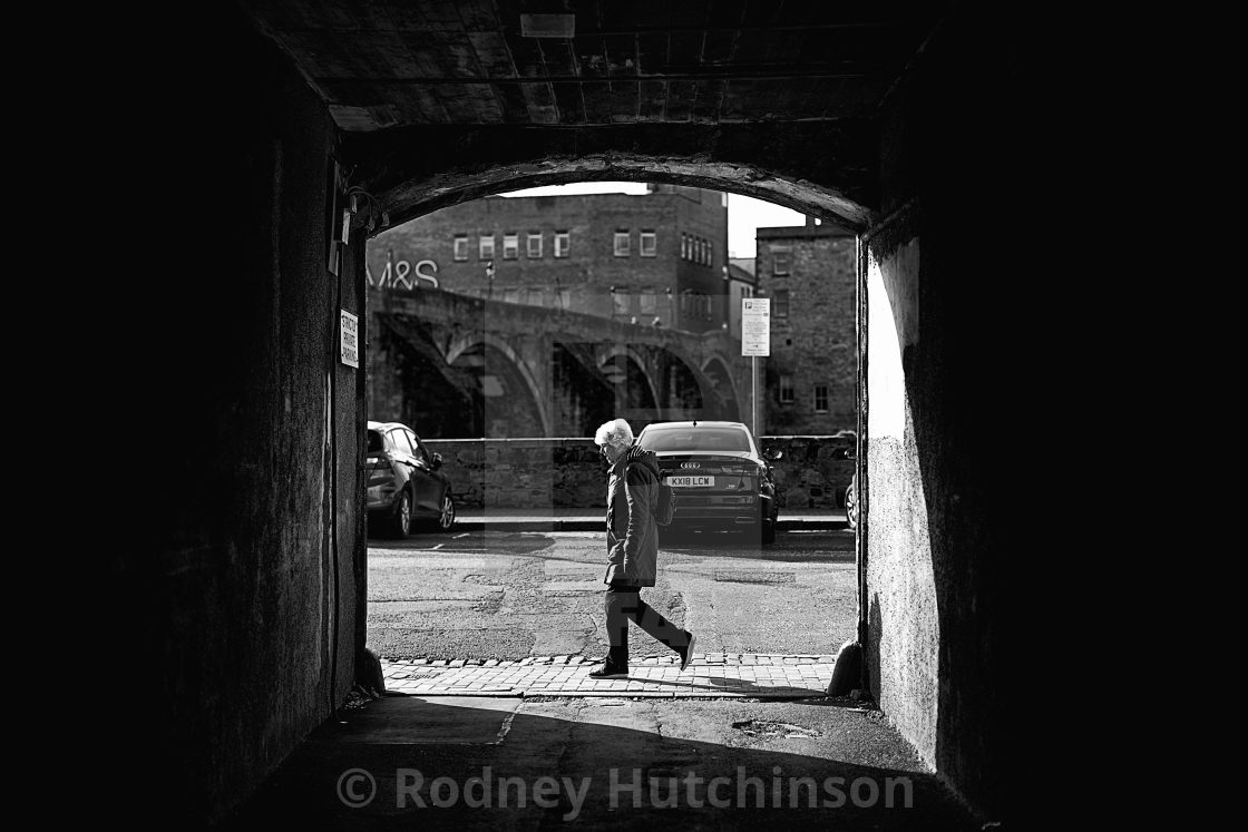 """woman in archway"" stock image"