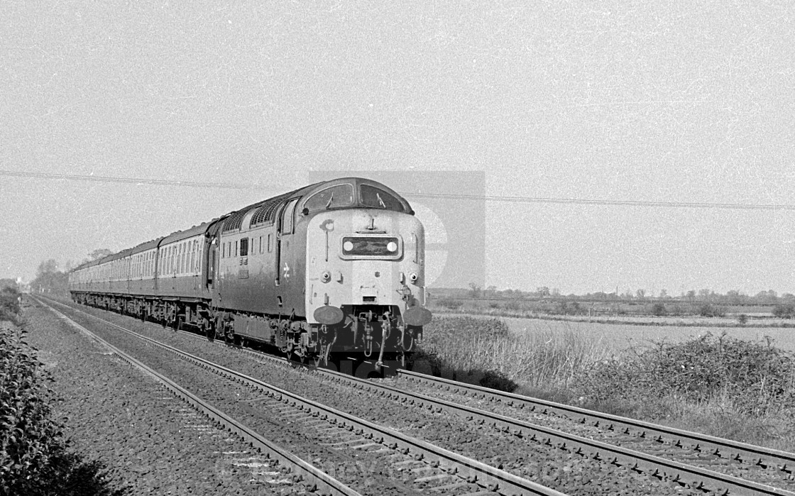 """Class 55 Deltic at Burn Lane"" stock image"