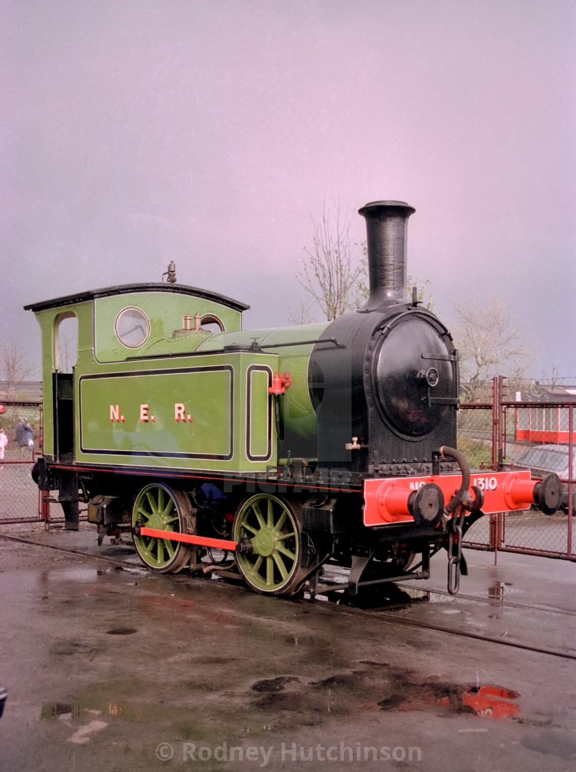 """NER 0-4-0 Steam Locomotive"" stock image"