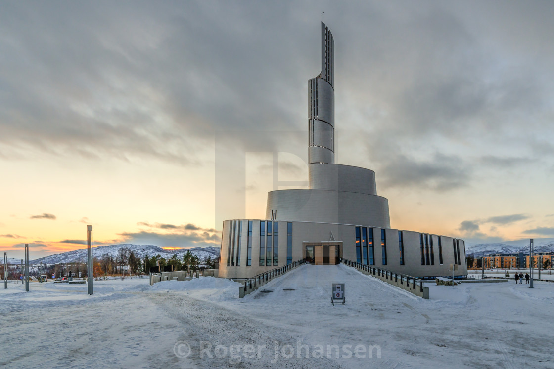 """""""Northernlights Cathedral"""" stock image"""