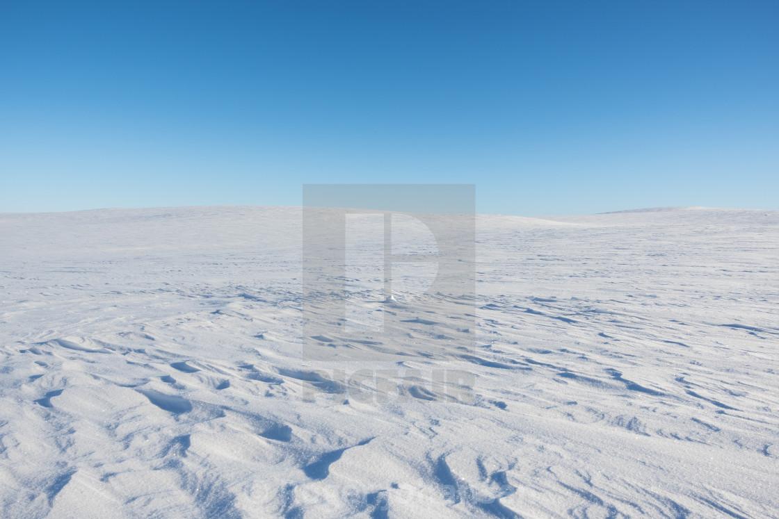 """Finnmark plateau in winter time"" stock image"