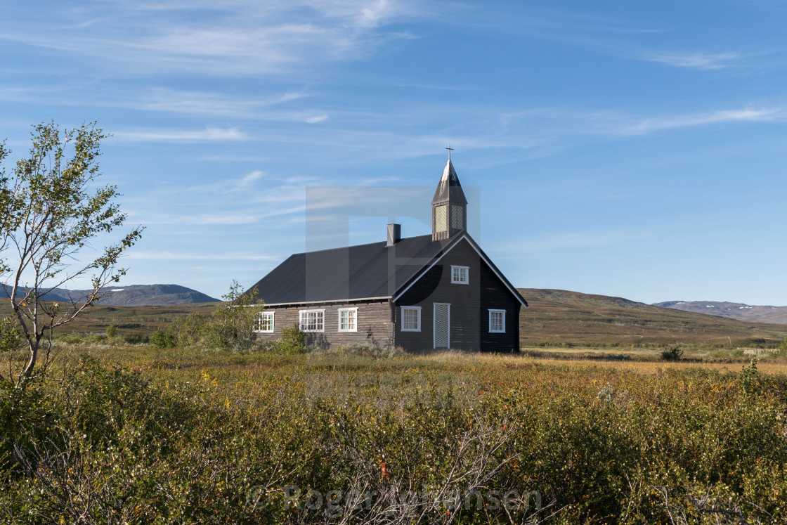 """Aisaroaivi chapel in summer"" stock image"