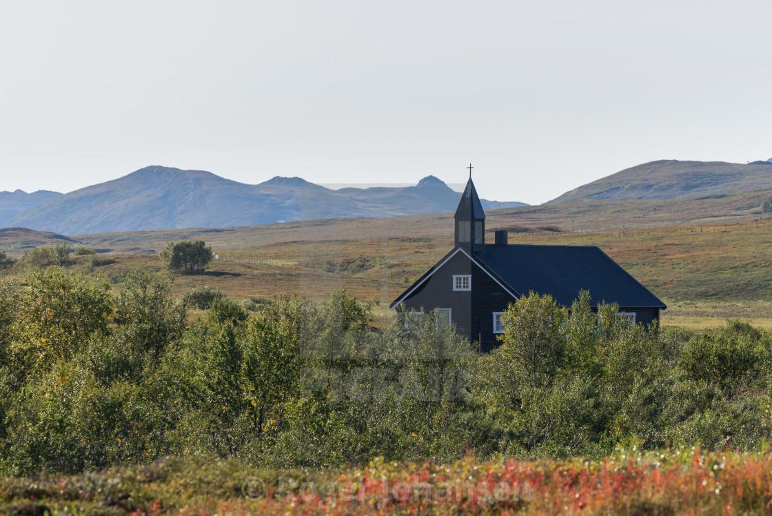 """Aisaroaivi chapel close"" stock image"