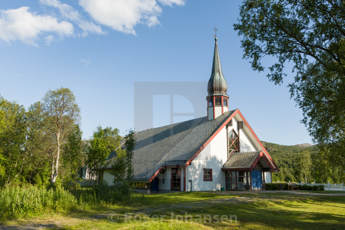 """Leirbotn church"" stock image"