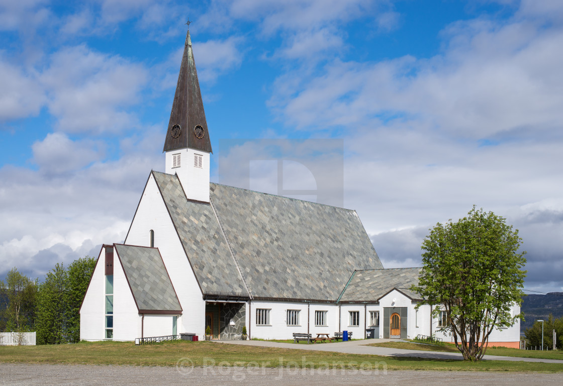 """Elvebakken church"" stock image"