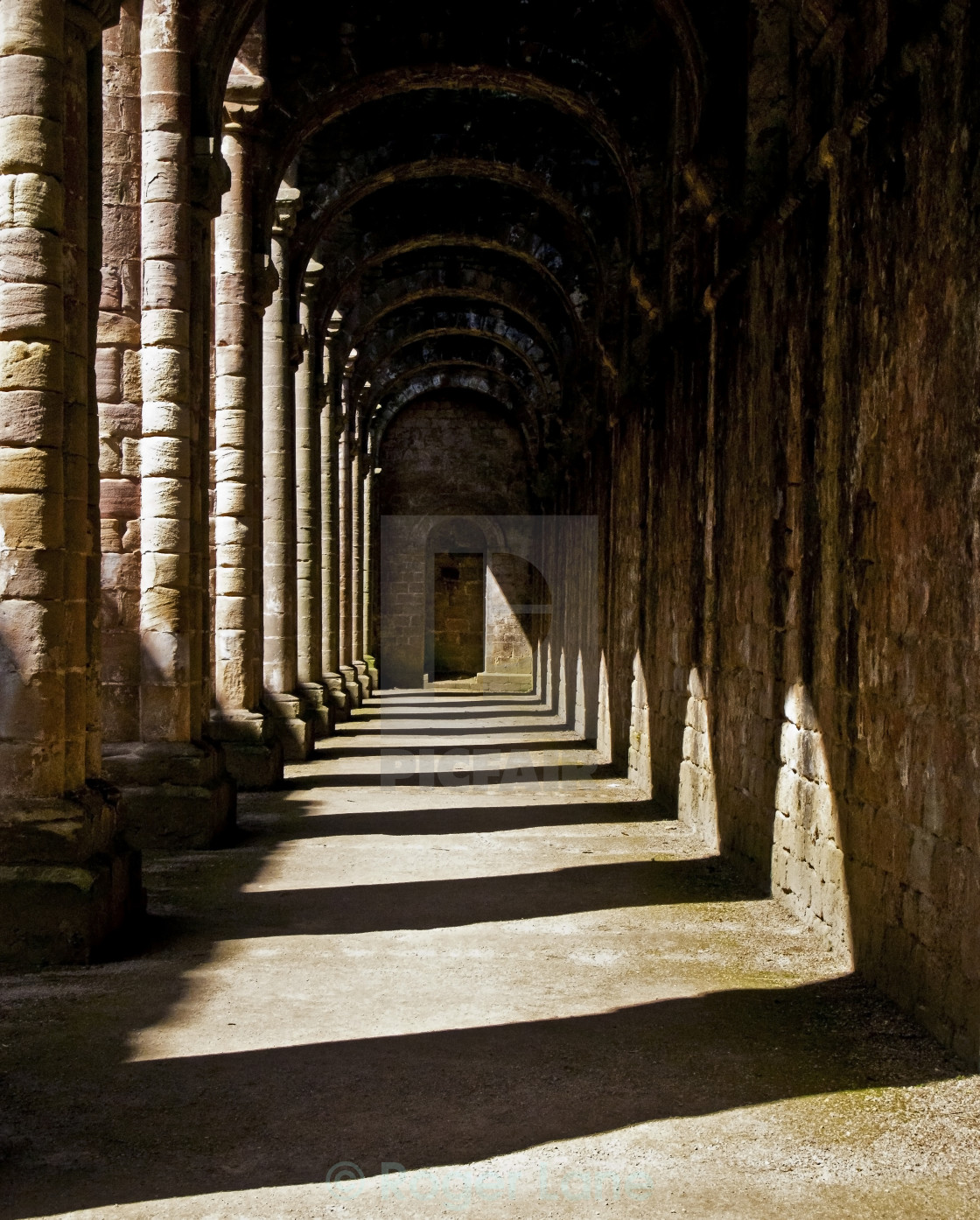 """Shadowed Cloisters"" stock image"