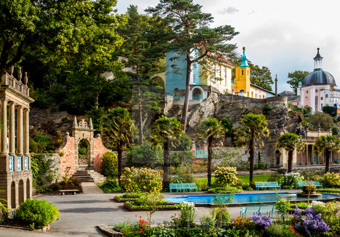 """Portmeirion Piazza"" stock image"