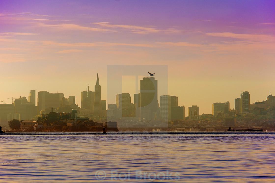 """""""Alcatraz and San Francisco City"""" stock image"""