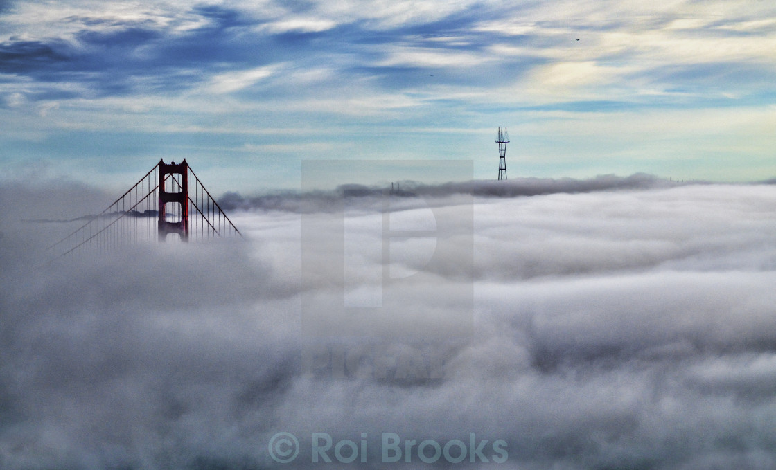 """Above the fog"" stock image"