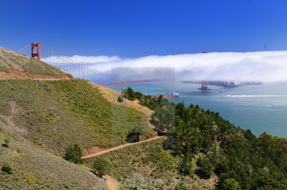 """Fog over the bridge"" stock image"