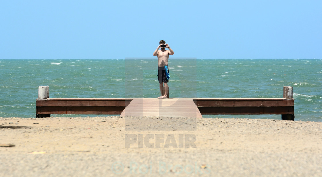 """Pier photographer"" stock image"