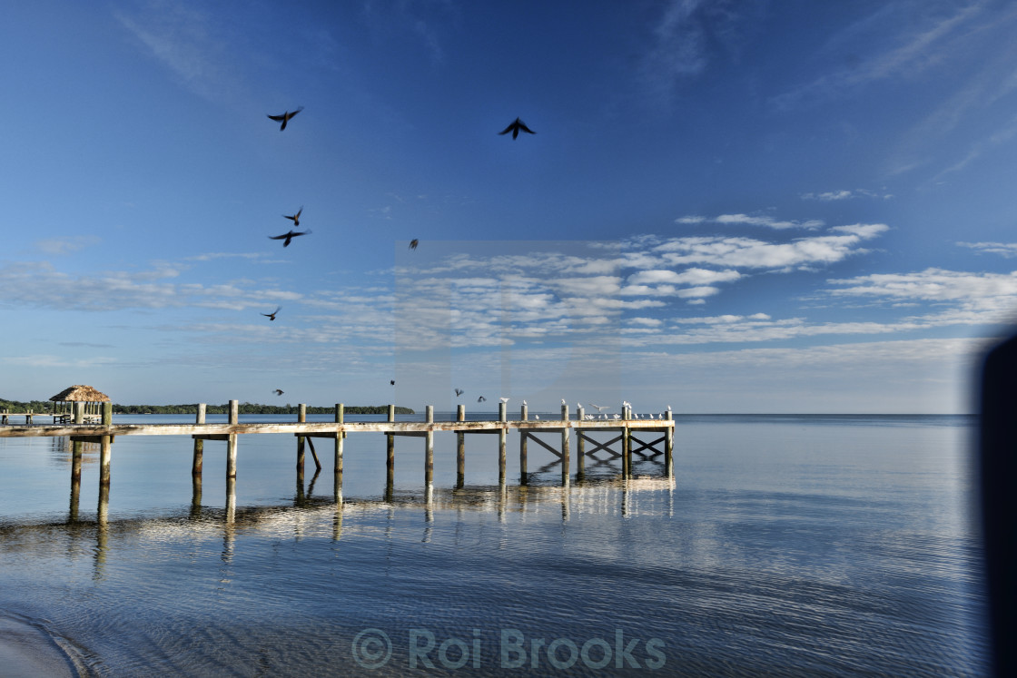 """Morning by the pier"" stock image"