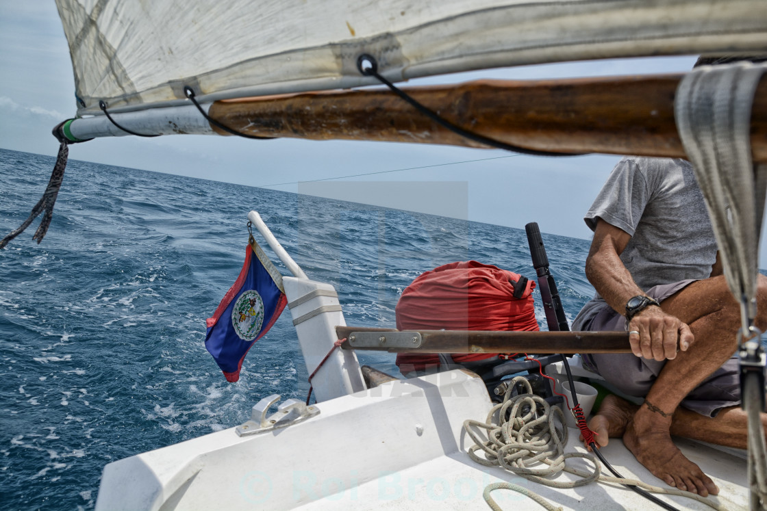 """Sailing in Belize"" stock image"