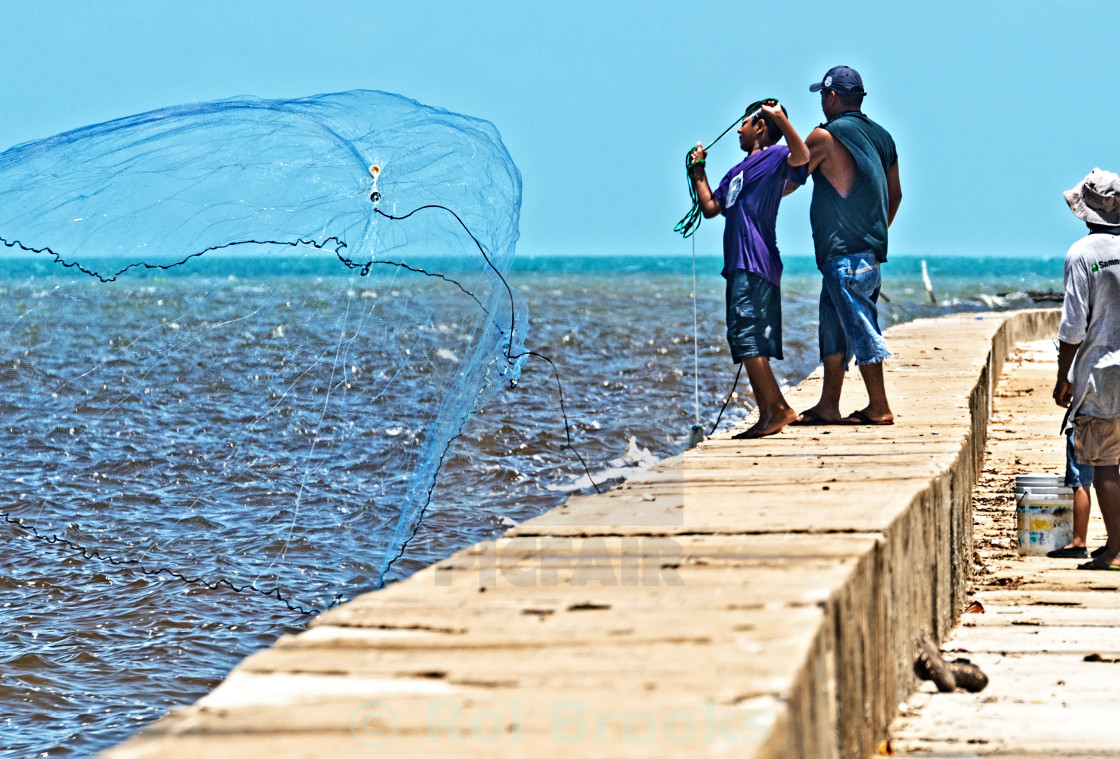 """Net fishing"" stock image"